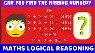 Can you find the missing number in these maths logic puzzles?