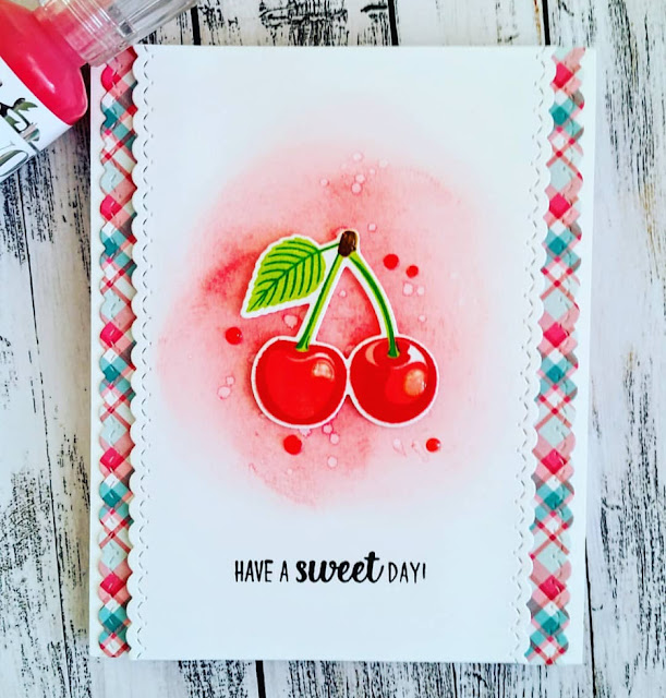 Sunny Studio Stamps: Berry Bliss Customer Card by Judy Tuck