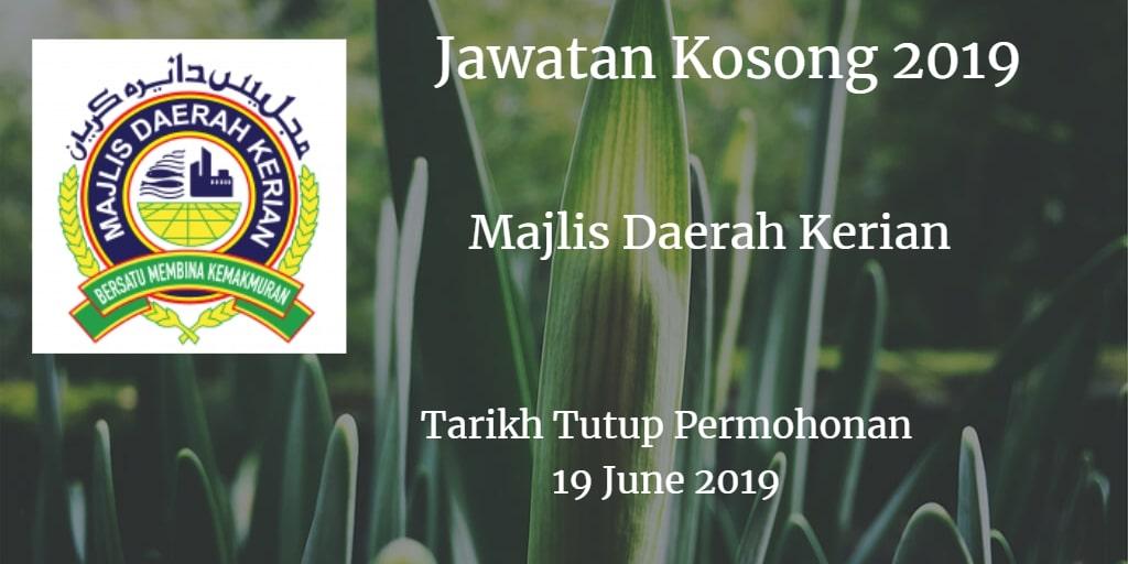 Jawatan Kosong MDK 19 June 2019