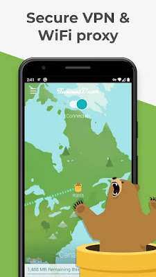 TunnelBear: Virtual Private Network & WiFi Proxy | Top 5 Free, and Secure VPN Apps for Android in 2020