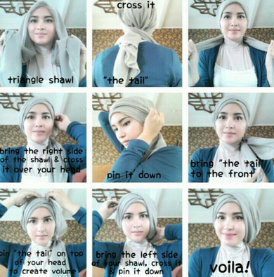 Tutorial Hijab Tanpa Jarum Pentul