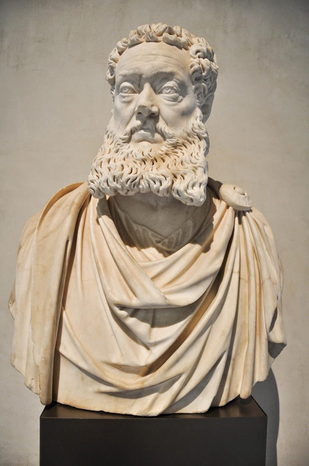 marble bust Vincenzo Pellegrini Alessandro Vittoria Civic Art Gallery Palazzo Chiericati Vicenza Italy
