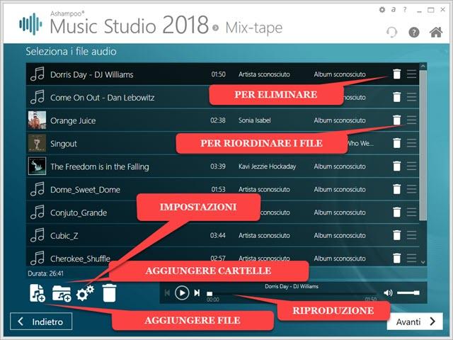 music studio per creare compilation