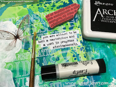 adding other elements Mixed Media artwork by Jenny James featuring the theme Bucket List