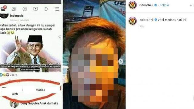 Viral Pemuda Sumpahi BJ Habibie, Ibunya Minta Maaf dan Bilang Anaknya Gangguan Jiwa