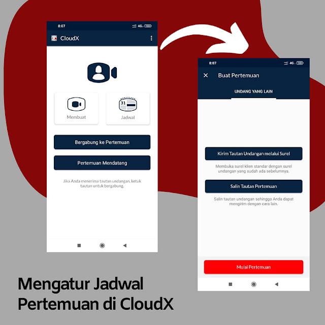 virtual meeting dengan CloudX Telkomsel