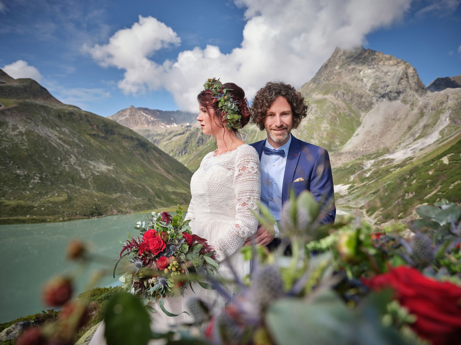Rifflsee, Pitztal, Bergromantik, romantische Berghochzeit, Boho Mountain Wedding, Hochzeitscocktail, Berghochzeit in Tirol, Mountain wedding, Pure Resort Pitztal, Fotograf Marc Gilsdorf Alpenwedding, Hochzeitsplaneragentur 4 weddings & events, Uschi Glas, Styled Shooting, Destination Wedding Austria, Braut und Bräutigam Shooting, heiraten in den Bergen