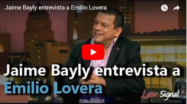 Emilio Lovera fue entrevistado por Jaime Bayly