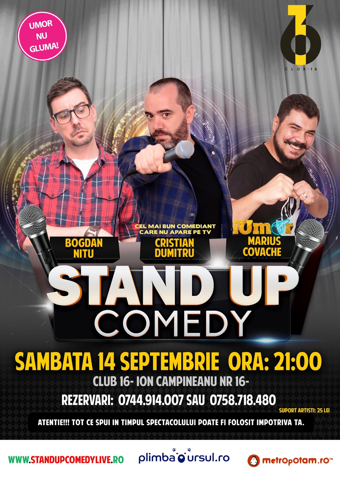 Stand-Up Comedy Spectacol Bucuresti