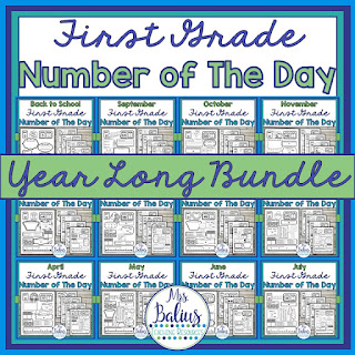 full year bundle of first grade number of the day activities