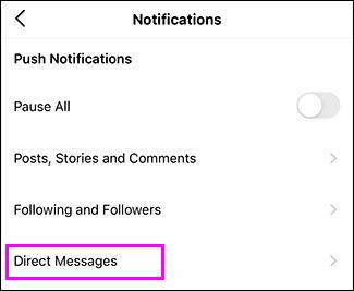 """انقر على """"الرسائل الخاصّة""""."""