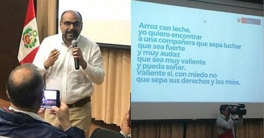 MINEDU: Ministro de Educación canta la versión modificada de «Arroz Con Leche» [VIDEO] www.minedu.gob.pe