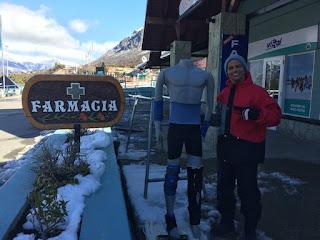 Fármacia para os acidentados na neve no Cerro Catedral em Bariloche