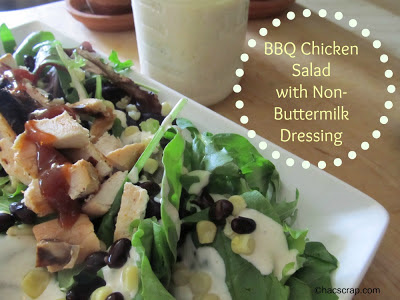 BBQ Ranch Chicken Salad with Non-Buttermilk Ranch Dressing