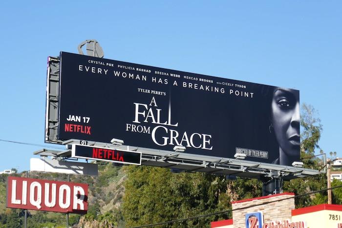 A Fall From Grace film billboard