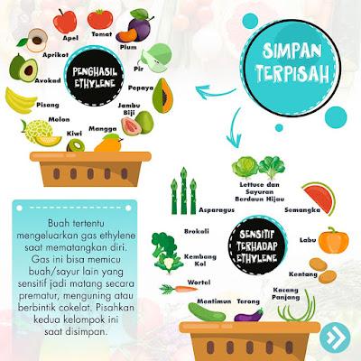 jenis buah yang harus disimpan di tempat terpisah
