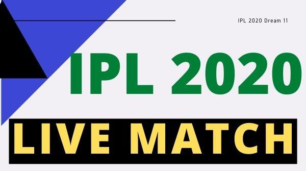 ipl 2020 live match