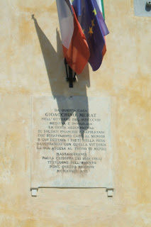 The plaque on the wall of Murat's villa at Santa Maria Annunziata