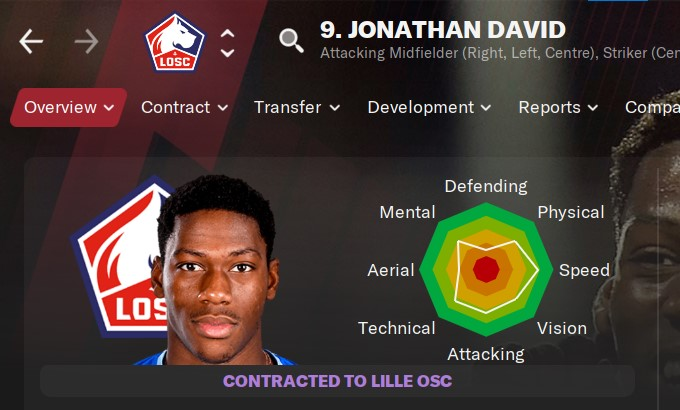 Jonathan David Football Manager 2021 FM2021 FM21
