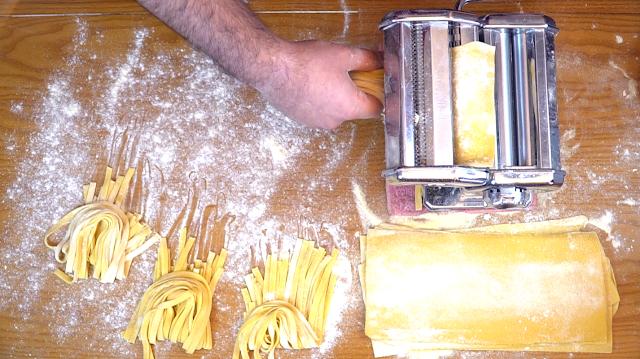 making fettuccini