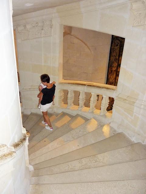 le grand escalier du château de Chambord