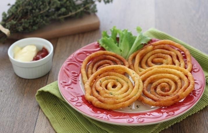 Картофельные спирали: красивая и вкусная закуска