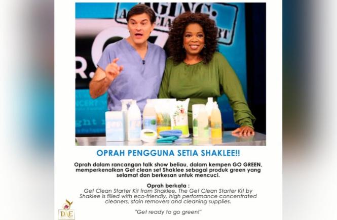 Oprah Winfrey Pengguna Setia Shaklee
