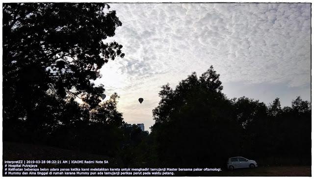 deretan belon udara panas di langit Putrajaya