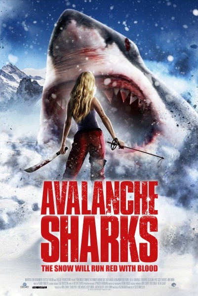Avalanche Sharks 2014 BRRip 480p Dual Audio Hindi 300MB