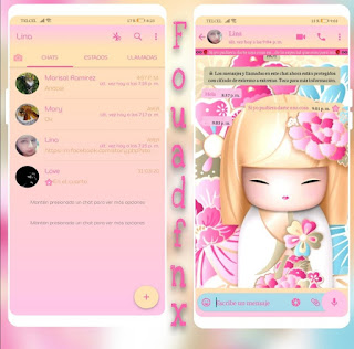 Baby Girl Theme For YOWhatsApp & Fouad WhatsApp By angy fénix