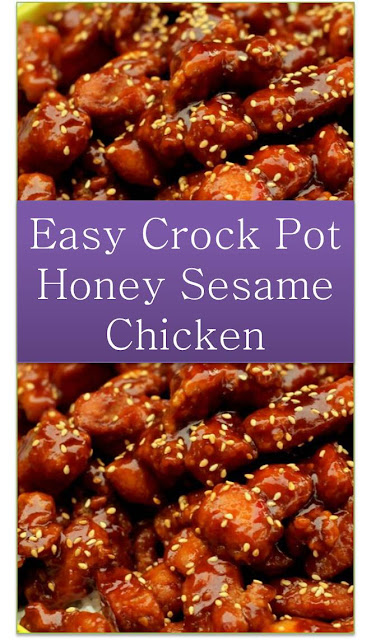 Crock Pot Honey Sesame Chicken #CrockPot #Honey #Sesame #Chicken #Recipe #CrockPotHoneySesameChicken