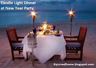 candle light dinner on new year party कैंडल लाइट डिनर - नये साल के जश्न