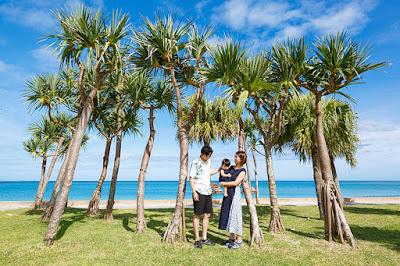 沖縄 北谷町 アラハビーチ ロケーション撮影 家族写真 ファミリーフォト