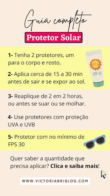 Guia Completo do Protetor Solar: como usar protetor solar