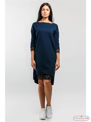 vestidos color azul de primavera