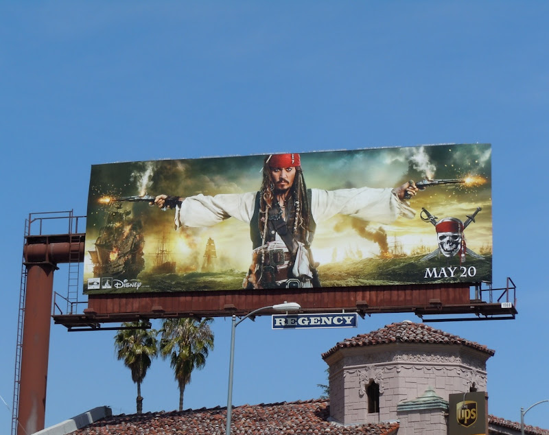 Johnny Depp Pirates 4 billboard