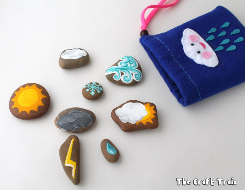 weather rock painting ideas for kids