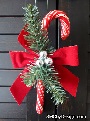 @SMCbyDesign #NUO2012 Vintage inspired Candy Cane Ornaments