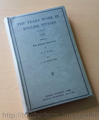 Philology: General Works (III) di Tolkien in The Year's Work in English Studies, 1925