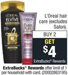 FREE L'Oreal Elvive Total Repair CVS Deal 7/5-7/11