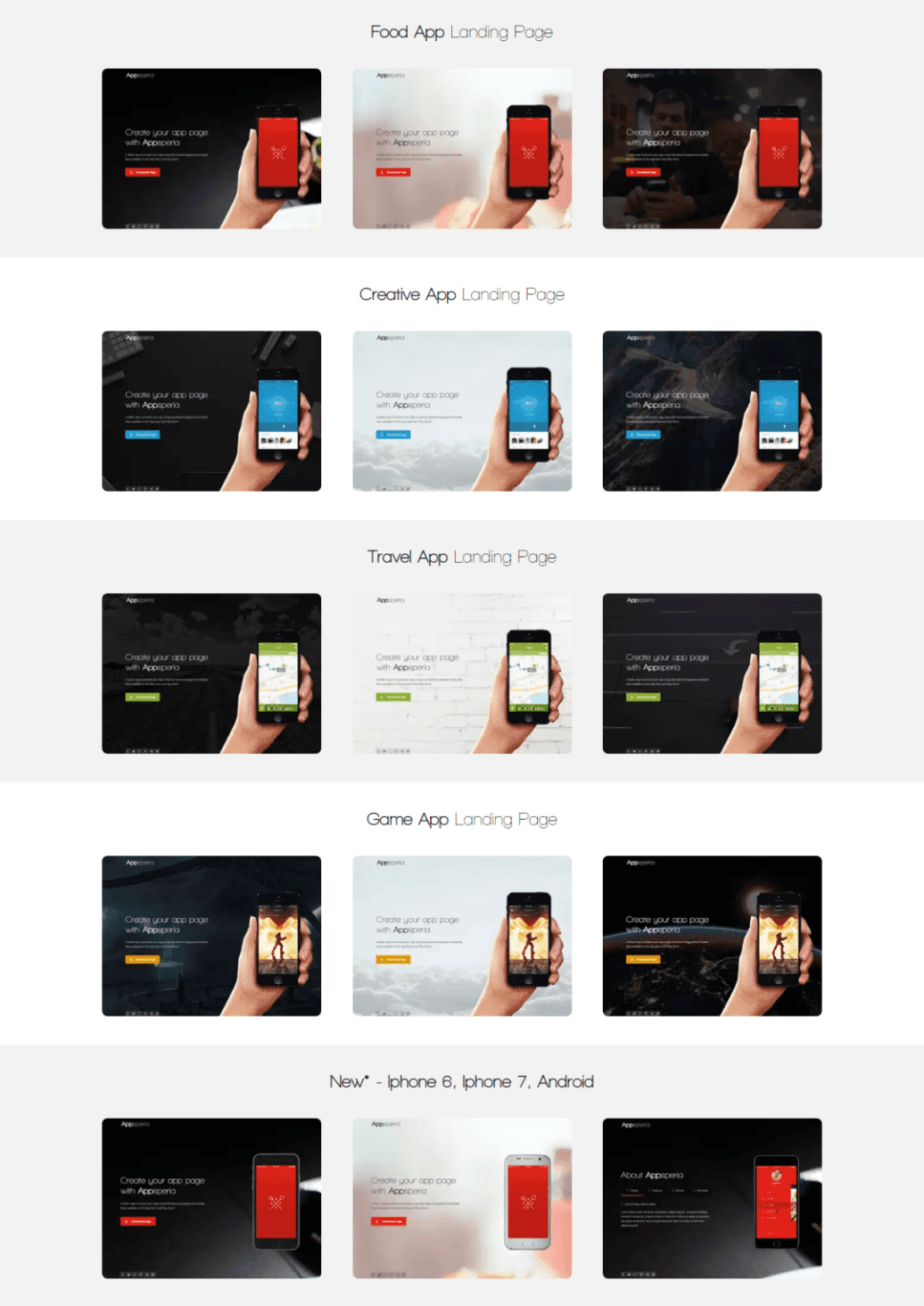 App Landing Page For Mobile App