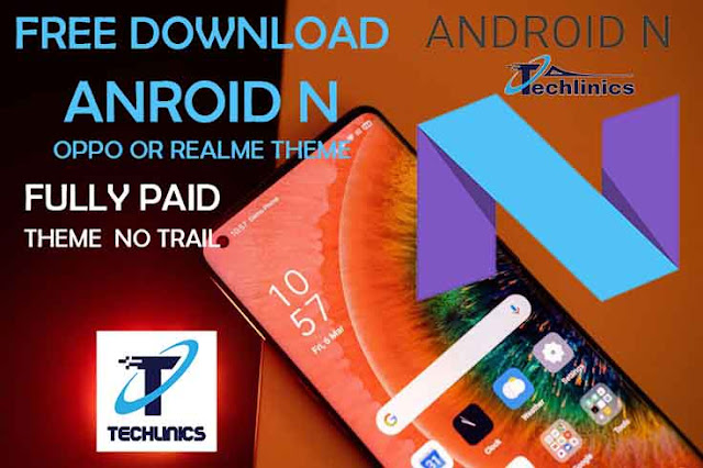 Android N theme download for all Oppo or Realme Mobiles