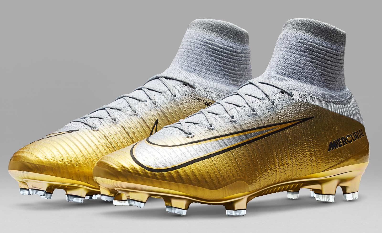 c62cc0d50 To commemorate CR7 winning his fifth Ballon d Or title Nike released a  spectacular gold and white boots for the Portuguese