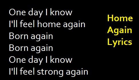 Home Again Lyrics
