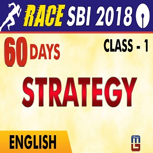 60 Days Plan For SBI Clerk Prelims 2018 : English Language