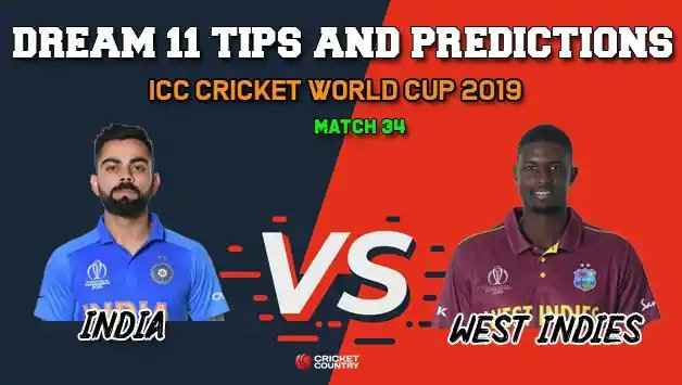 IND vs WI Dream11 Prediction For Today Match, Match 34 Cricket World Cup 2019: Fantasy Game Today India vs West Indies