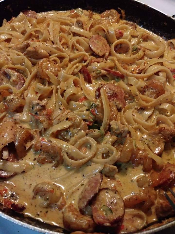 Cajun pasta be poppin