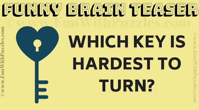 Which key is hardest to turn?