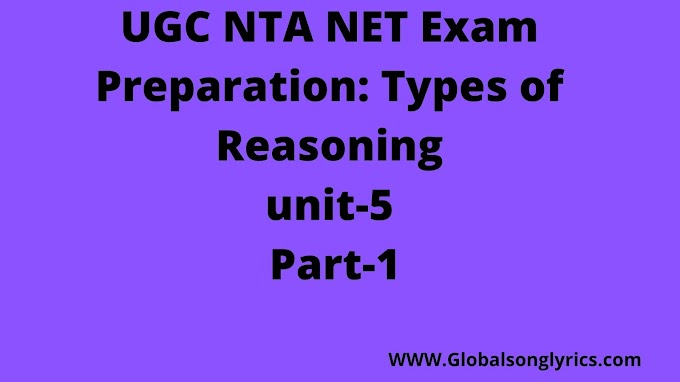 UGC NTA NET Exam Preparation: Types of Reasoning|unit-5| Part-1|