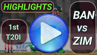 BAN vs ZIM 1st T20I 2020